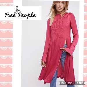 NWOT Free People sz small New Day embroidery tunic